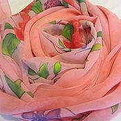 Аксессуары ручной работы. Ярмарка Мастеров - ручная работа Платок шелковый Симфония цветов. Handmade.