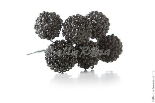 `Ежевика черная L`. Материал - стекло. Диаметр - 2 см. В пучке - 6 шт. Стоимость 1 пучка - 135 руб.