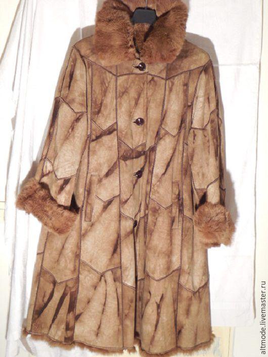 Одежда. Ярмарка Мастеров - ручная работа. Купить Итальянская дубленка, шуба, пальто из кролика Lapin, р. 50-52. Handmade.