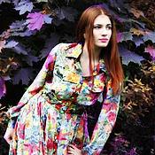 Одежда ручной работы. Ярмарка Мастеров - ручная работа платье рубашка шелк двусторонний. Handmade.