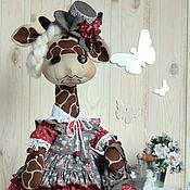 Куклы и игрушки ручной работы. Ярмарка Мастеров - ручная работа Текстильная игрушка Жирафа Эвелина. Handmade.