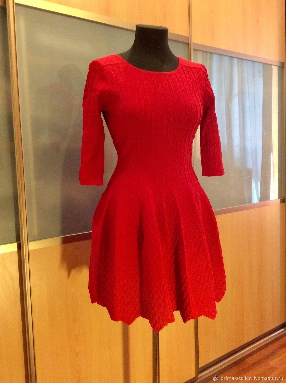 Платье с стиле Шанель  красного цвета, Платья, Москва, Фото №1