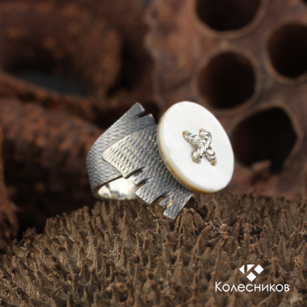 Rings handmade. Livemaster - handmade. Buy Ring silver Fashion accessory (silver, mother of pearl).Fashion, ring