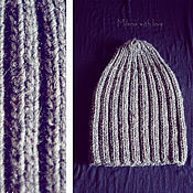 Аксессуары handmade. Livemaster - original item Knitted man`s hats For dads and their sons.. Handmade.