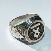 Amulet handmade. Livemaster - original item RING WITH WOLVES (RUNE TO CHOOSE FROM). Handmade.