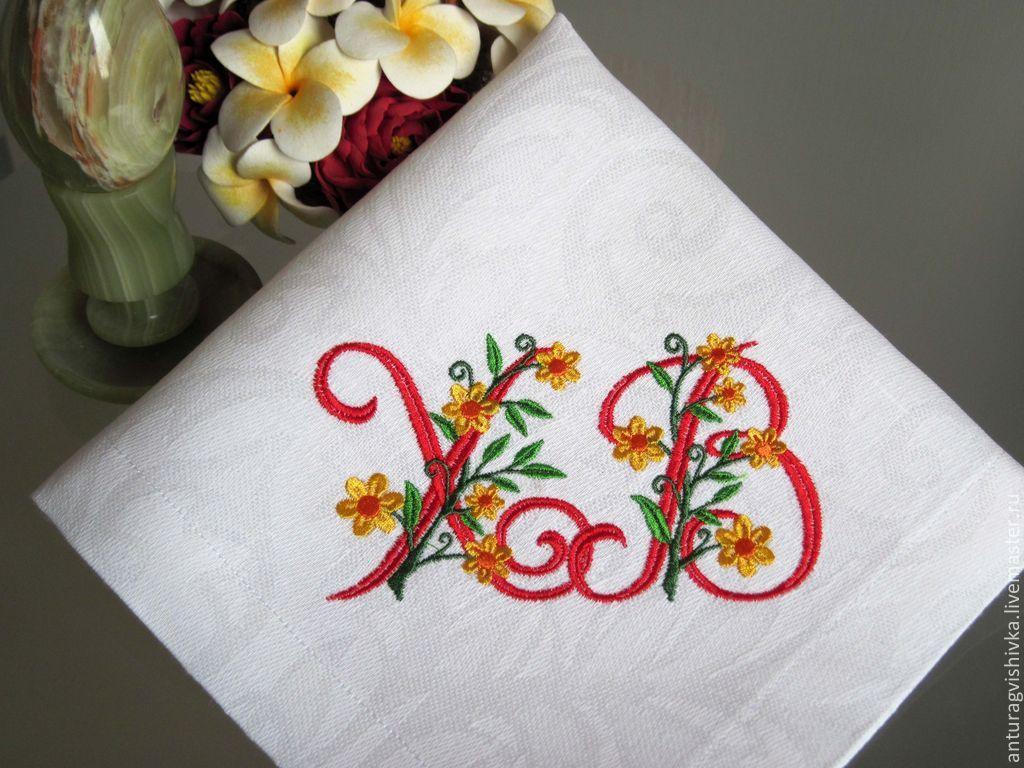Декор салфеток вышивкой