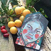Картины и панно ручной работы. Ярмарка Мастеров - ручная работа Тибет девушки. Handmade.