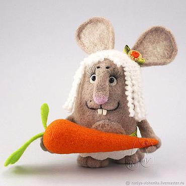 Куклы и игрушки ручной работы. Ярмарка Мастеров - ручная работа Зайка войлочная (войлочная игрушка, игрушки из войлока). Handmade.