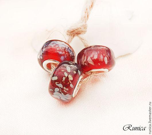 """Для украшений ручной работы. Ярмарка Мастеров - ручная работа. Купить Марс - бусины для браслетов в стиле """"Пандора"""". Handmade."""