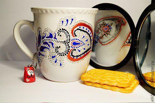 Кружки и чашки ручной работы. Ярмарка Мастеров - ручная работа. Купить Перышко Жар- птицы. Handmade. Комбинированный, чашка в подарок