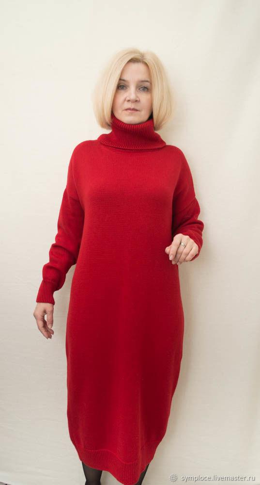 Платье -свитер оверсайз, 100% мериносовая шерсть, Платья, Санкт-Петербург,  Фото №1