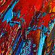 """Картина маки павлин """"Гордая Стать"""" холст, масло. Картины. ЯРКИЕ КАРТИНЫ Наталии Ширяевой. Ярмарка Мастеров. Фото №5"""