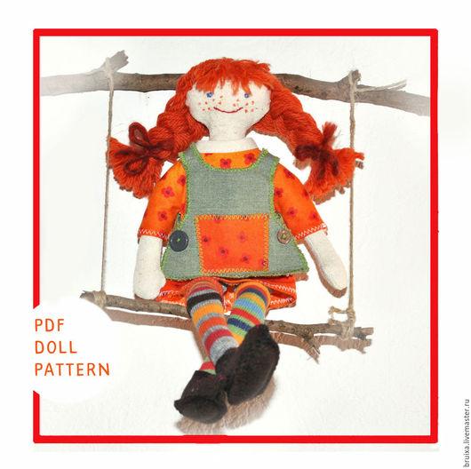 Обучающие материалы ручной работы. Ярмарка Мастеров - ручная работа. Купить Кукла текстильная. Мастер класс кукла Пеппи Длинный чулок. Handmade.