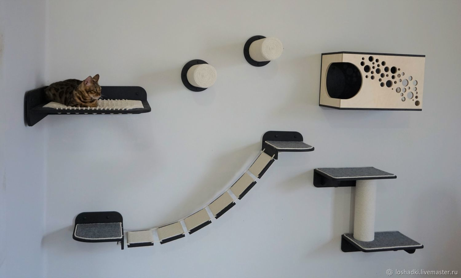 Wall-mounted complex for cats ' Cosmos -10', Accessories for Pets, Pleasant,  Фото №1
