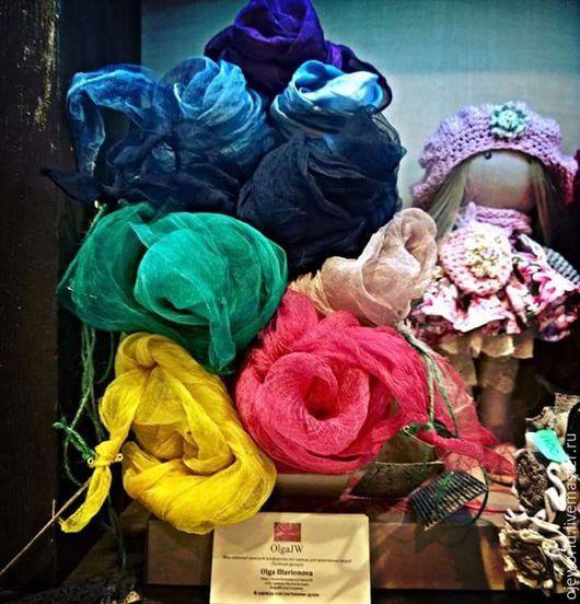 """Шарфы и шарфики ручной работы. Ярмарка Мастеров - ручная работа. Купить """"Путешествие по жизни"""""""" шарфы, ручной окраски. Handmade. Абстрактный"""