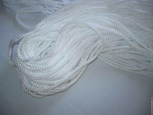 Аппликации, вставки, отделка ручной работы. Ярмарка Мастеров - ручная работа. Купить Шнур плетёный круглый, 6 мм, белый. Handmade.