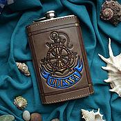 """Сувениры и подарки handmade. Livemaster - original item Leather flask """"ODESSA"""". Handmade."""
