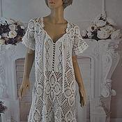 Одежда handmade. Livemaster - original item Crocheted, openwork tunic, cotton, ,48-52p.. Handmade.