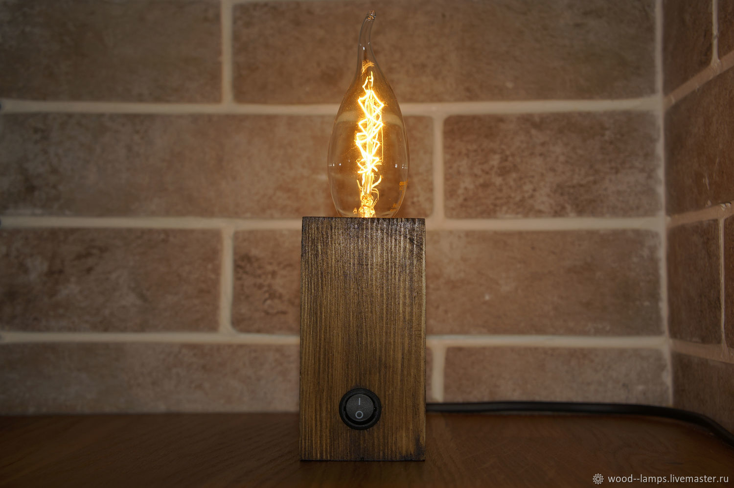 Handmade Accent Lamp, The Factory Desk Lamp with Edison Bulb, Table lamps, Moscow,  Фото №1