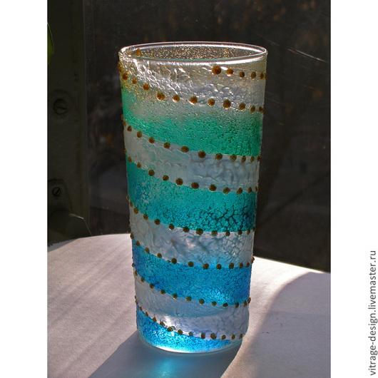 Бокал (вазочка) с фактурной росписью
