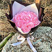 Букеты ручной работы. Ярмарка Мастеров - ручная работа Вечный букет из 7 роз «Лучиана». Handmade.