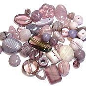 Материалы для творчества handmade. Livemaster - original item 20gr Czech Beads Mix Lilac Lila1 Czech beads Preciosa. Handmade.