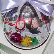 Елочные игрушки ручной работы. Ярмарка Мастеров - ручная работа Подарочные шары с фото. Handmade.