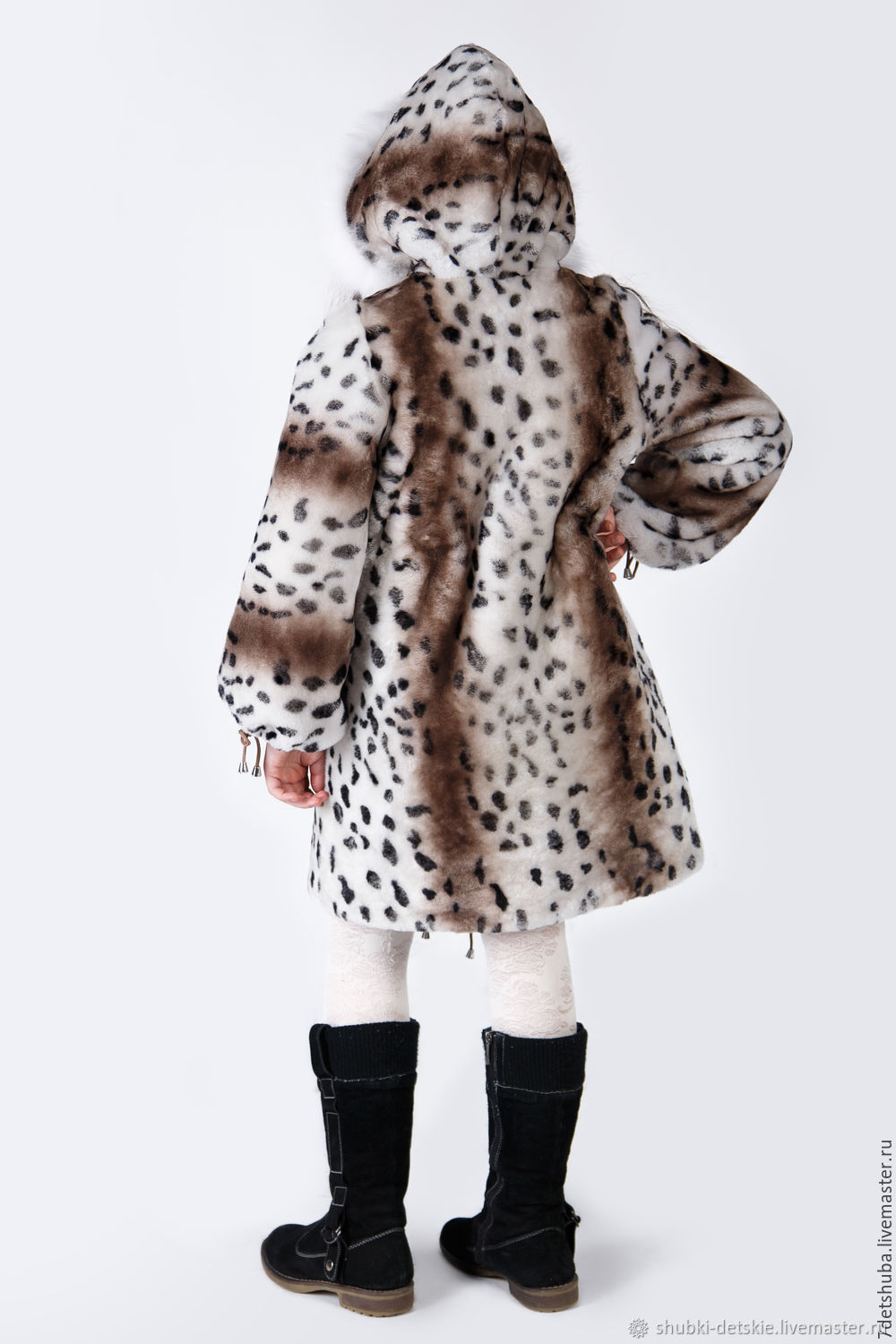 80f38360cb7f Clothes for Girls handmade. Order Children's natural fur coat - Mouton.