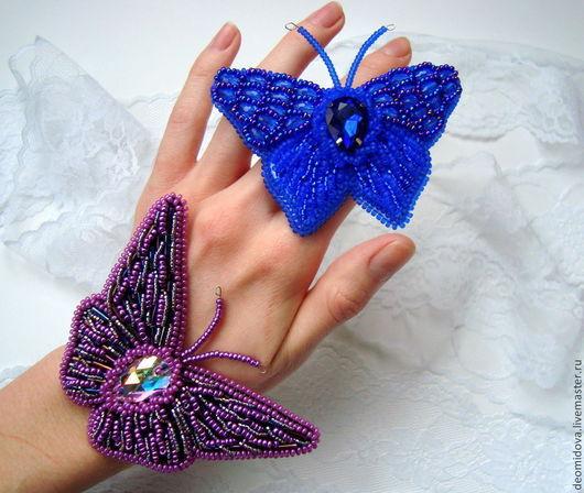 Броши ручной работы. Ярмарка Мастеров - ручная работа. Купить Броши бабочки. Handmade. Разноцветный, красивые броши, основа для броши