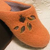 """Обувь ручной работы. Ярмарка Мастеров - ручная работа Валяные тапочки """"Энерджи"""". Handmade."""