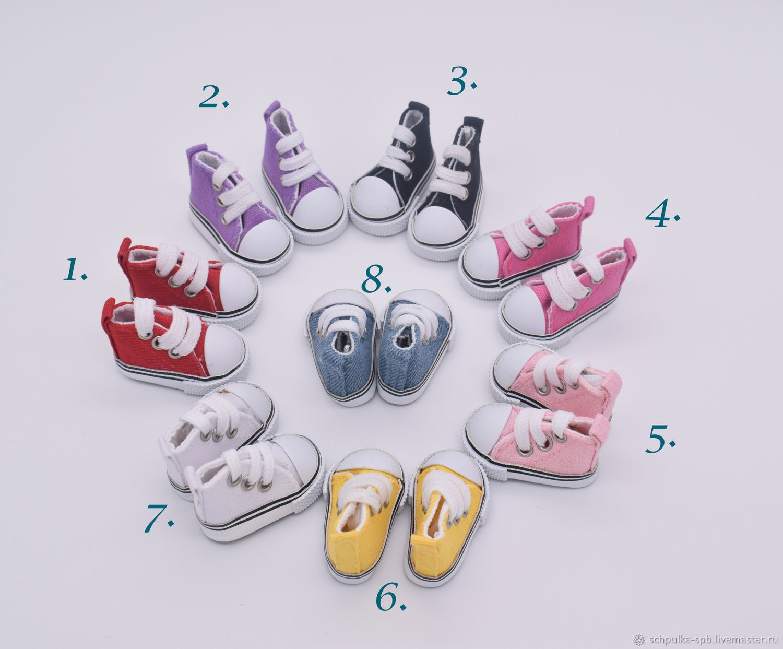Кеды для кукол 5см на шнурках, Коробки, Санкт-Петербург,  Фото №1