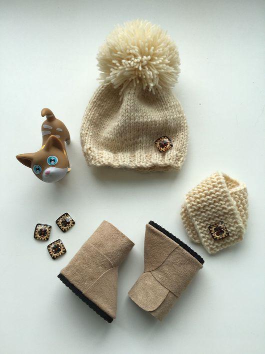 Одежда для кукол ручной работы. Ярмарка Мастеров - ручная работа. Купить Комплект для куклы. Handmade. Шапка, шапка вязаная, шапочка