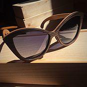 Аксессуары ручной работы. Ярмарка Мастеров - ручная работа Деревянные солнцезащитные очки модель Fly. Handmade.