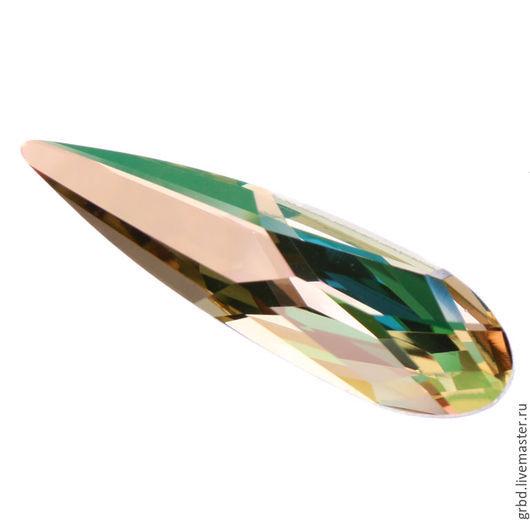 Для украшений ручной работы. Ярмарка Мастеров - ручная работа. Купить Raindrop 30 мм - Luminous Green. Handmade.