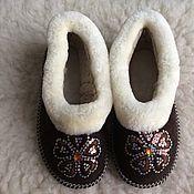 Обувь ручной работы handmade. Livemaster - original item Womens fur chuvaki 37,38. Handmade.