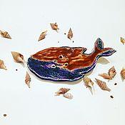Для дома и интерьера ручной работы. Ярмарка Мастеров - ручная работа Таинственный кит мыльница керамическая ручной работы. Handmade.
