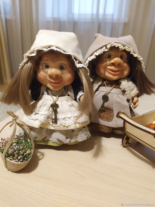 Авторские куклы: Новые жители '' Деревни гномов'', Портретная кукла, Владимир,  Фото №1