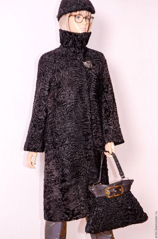 Верхняя одежда ручной работы. Ярмарка Мастеров - ручная работа. Купить Cвакара шелковая Манто леди шик воротник четыре уровня защиты. Handmade.