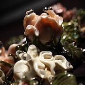 """Украшения ручной работы. Ярмарка Мастеров - ручная работа Колье """"Ванильное утро в розовом саду"""". Handmade."""