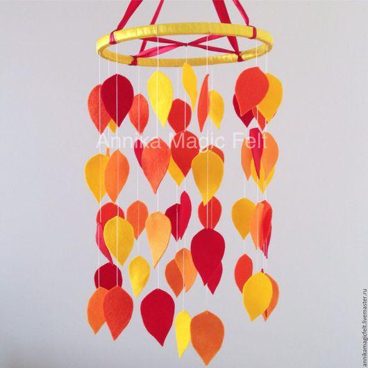 """Детская ручной работы. Ярмарка Мастеров - ручная работа. Купить Мобиль в кроватку """"Осенние листья"""". Handmade. Мобиль, мобиль на кроватку"""