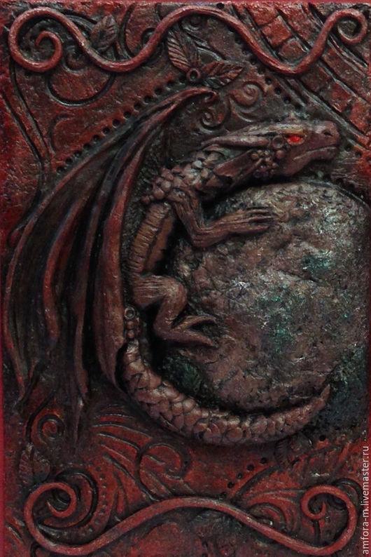 """Ежедневники ручной работы. Ярмарка Мастеров - ручная работа. Купить Ежедневник """"Дракон"""". Handmade. Коричневый, подарок на любой случай"""
