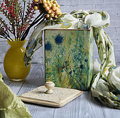 Для дома и интерьера handmade. Livemaster - original item Box for kitchen Alpine waltz.. Box storage decoupage. Handmade.