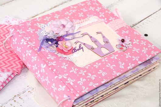 """Фотоальбомы ручной работы. Ярмарка Мастеров - ручная работа. Купить Альбом для девочки """"Принцесса"""". Handmade. Розовый, альбом для новорожденной, цветы"""