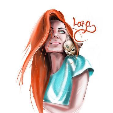 Дизайн и реклама ручной работы. Ярмарка Мастеров - ручная работа Иллюстрации: бьюти-шарж. Handmade.