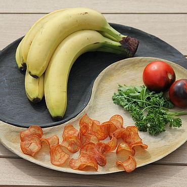 Посуда ручной работы. Ярмарка Мастеров - ручная работа Тарелка для сервировки Инь и ян. Handmade.