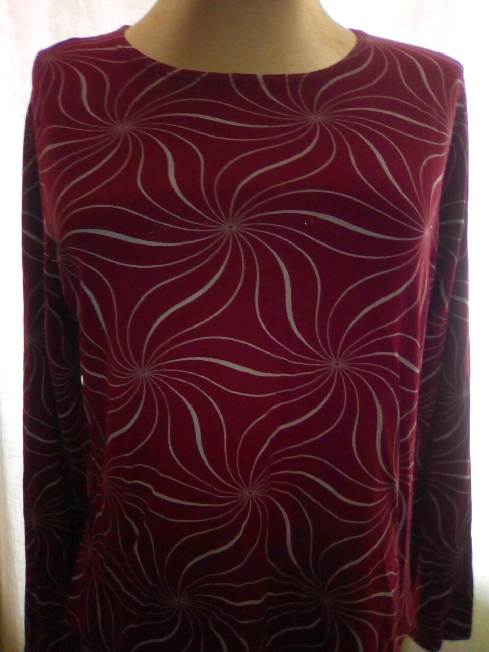Винтаж: Кофточка винтажная красная с длинным рукавом, Винтажная одежда, Софрино,  Фото №1
