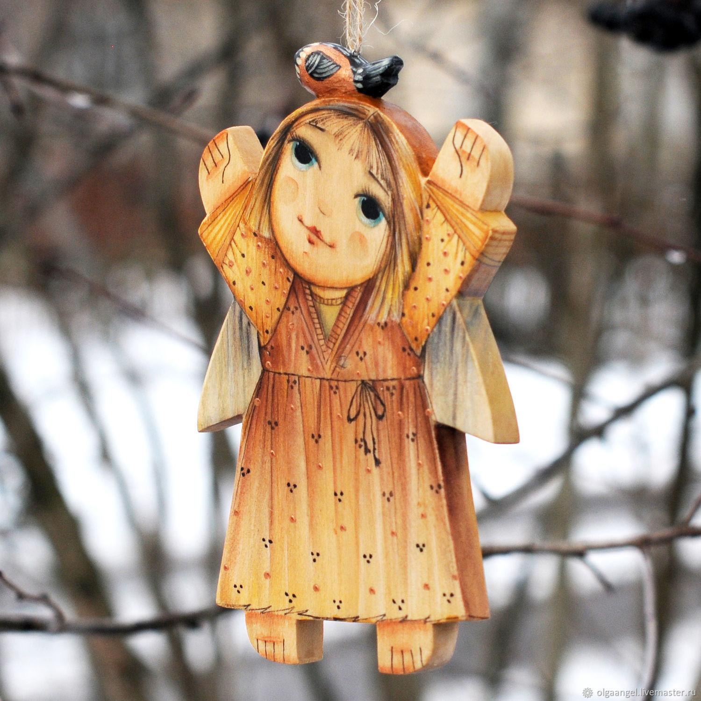Ангел и золотая птичка, Игрушки, Сергиев Посад, Фото №1