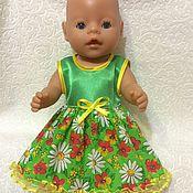 Куклы и игрушки ручной работы. Ярмарка Мастеров - ручная работа Платье  для беби борн. Handmade.
