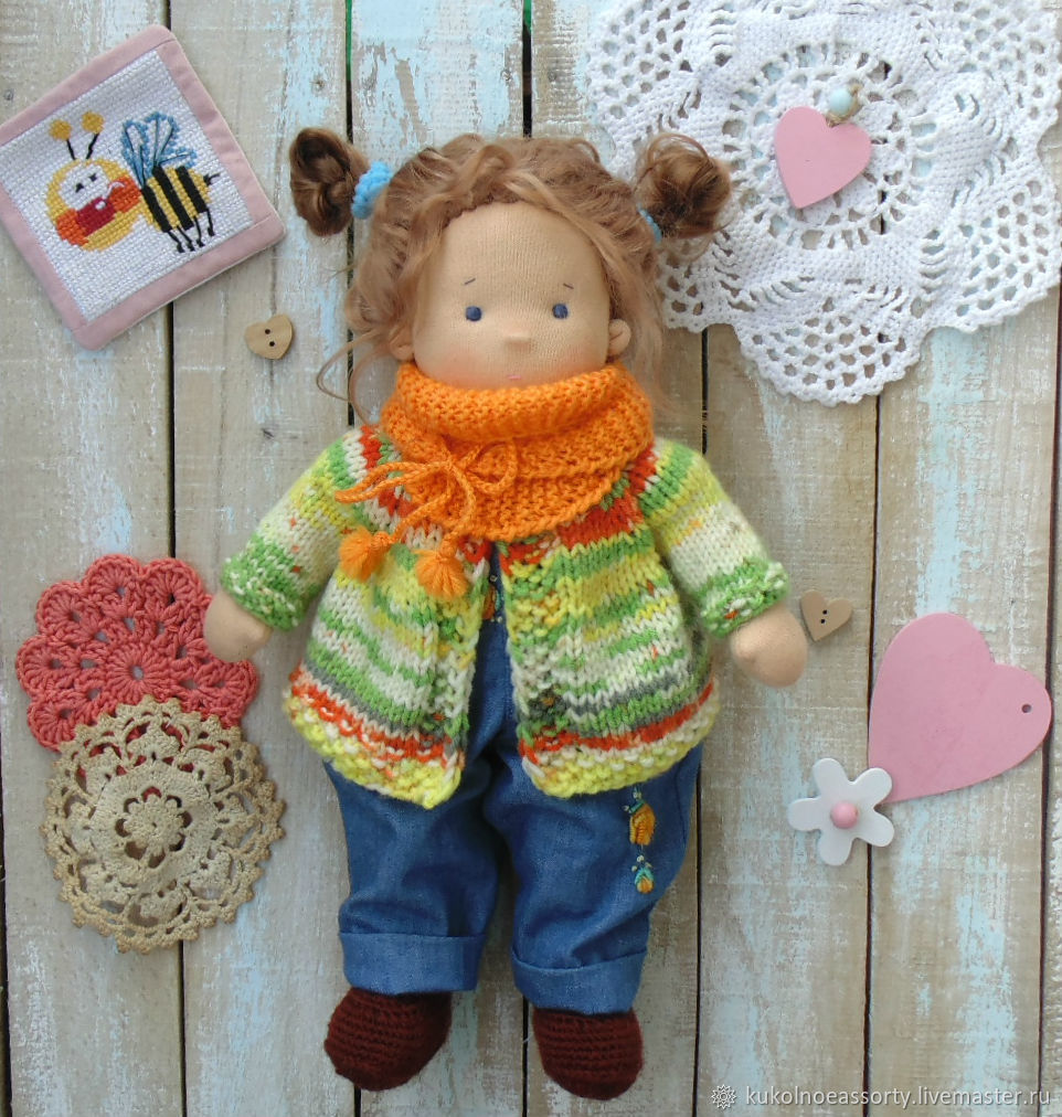 Вальдорфская кукла: Риточка, Вальдорфские куклы и звери, Североуральск,  Фото №1