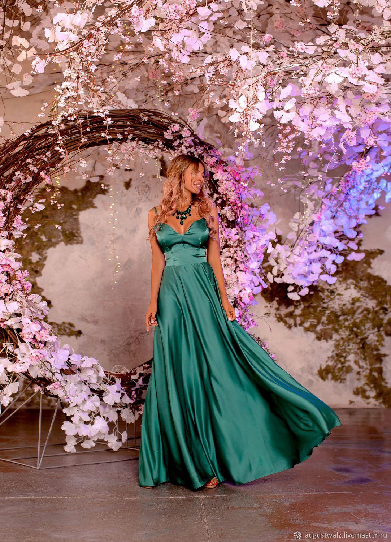 Шёлковое праздничное платье в макси длине, Платья, Санкт-Петербург, Фото №1